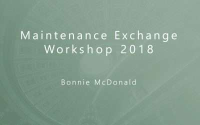 Bonnie McDonald, Keynote Speaker at the NACO 2018 Maintenance Workshop